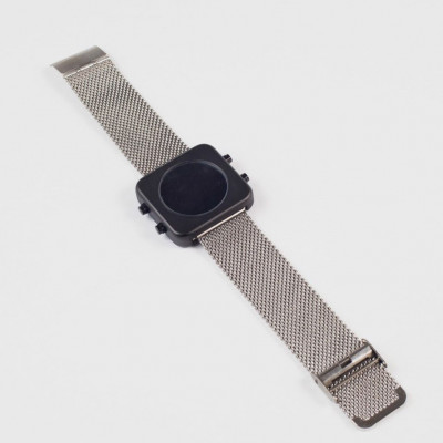 Circa Watch | Mesh, Black Case, Silver