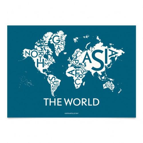 Die Weltpostkarte | Petroleum Inverse