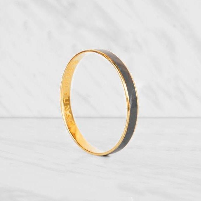 Thin Bangle Bracelet | Grey
