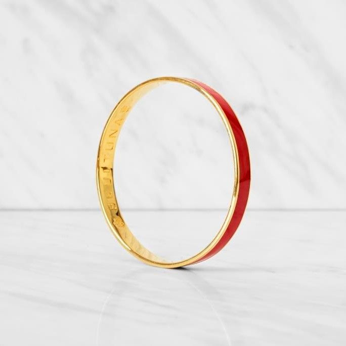 Thin Bangle Bracelet | Red