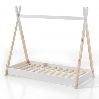 Tipi-Bett 90 x 200 cm   Weiß