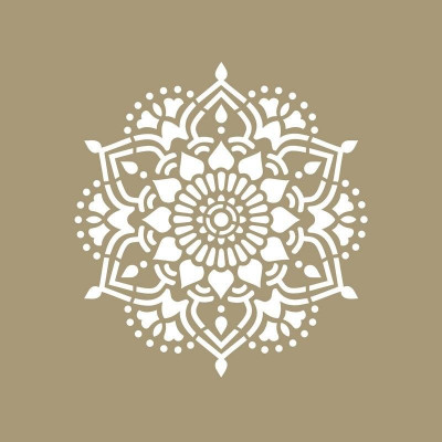 Schablone Mandala   Tibet