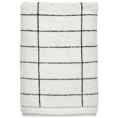 Kachel-Stein-Handtuch | Schwarz/Off-Weiß