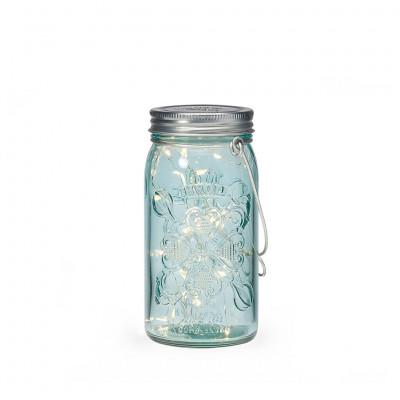 Jar Light | Blue & Silver