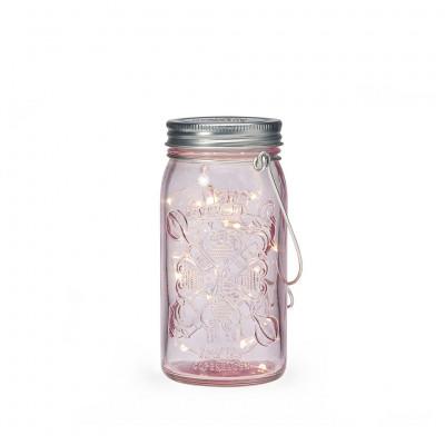 Jar Light | Pink & Silver