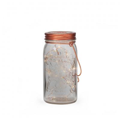 Jar Light | Smoke & Copper