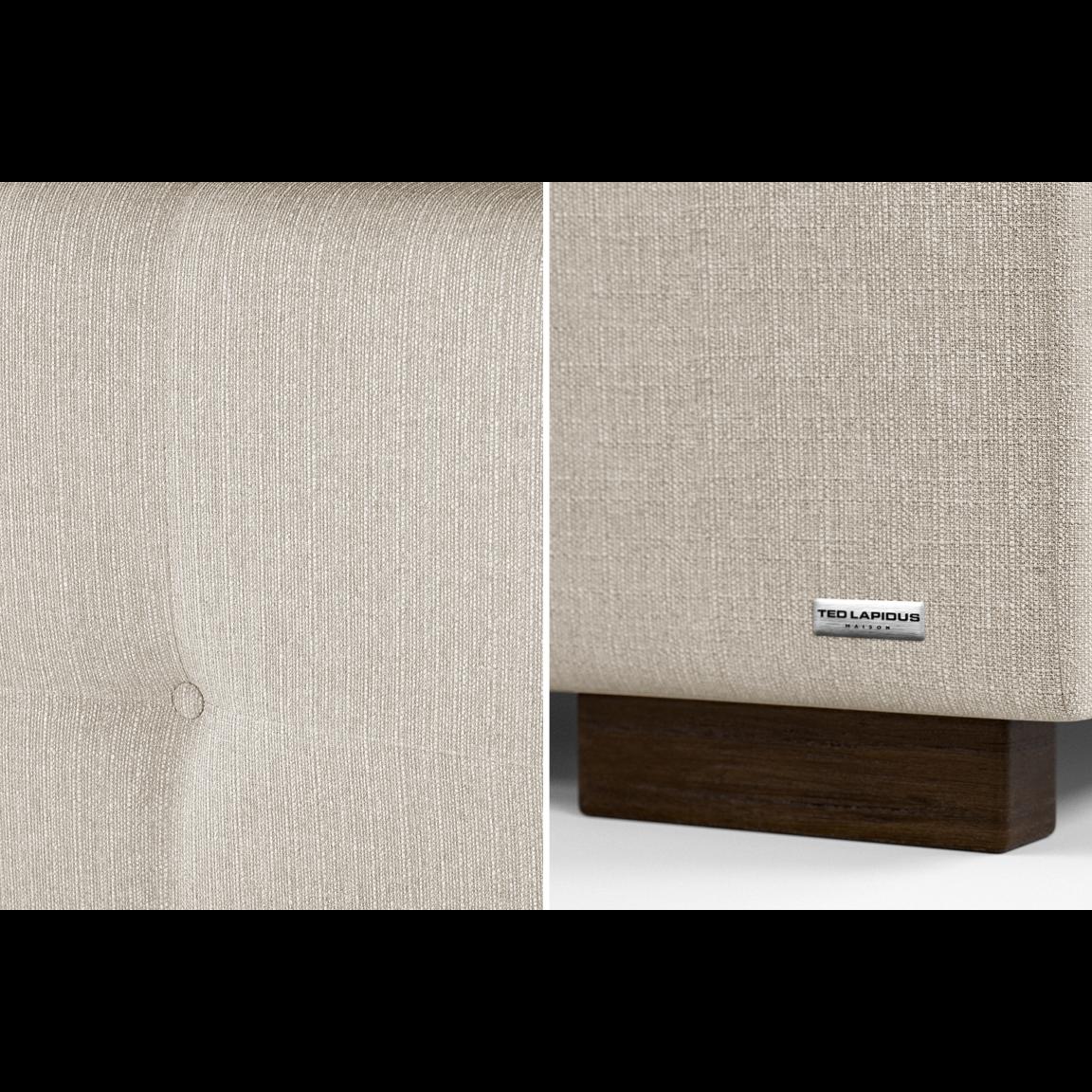 Gepolstertes Bett Cobalt mit Staumöglichkeit | Creme-140 x 190 cm