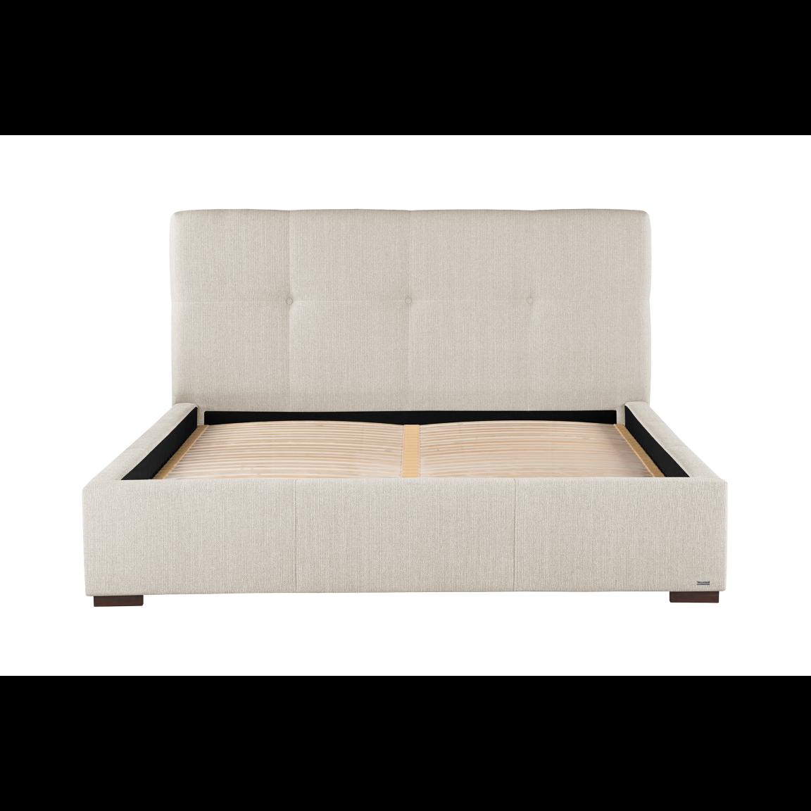 Gepolstertes Bett Cobalt | Creme-140 x 190 cm