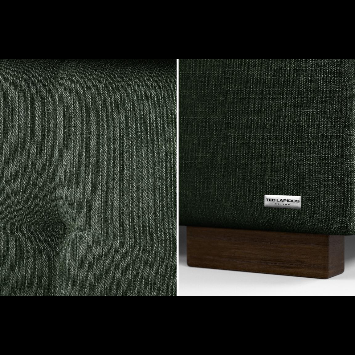 Gepolstertes Bett Cobalt | Grün-140 x 200 cm