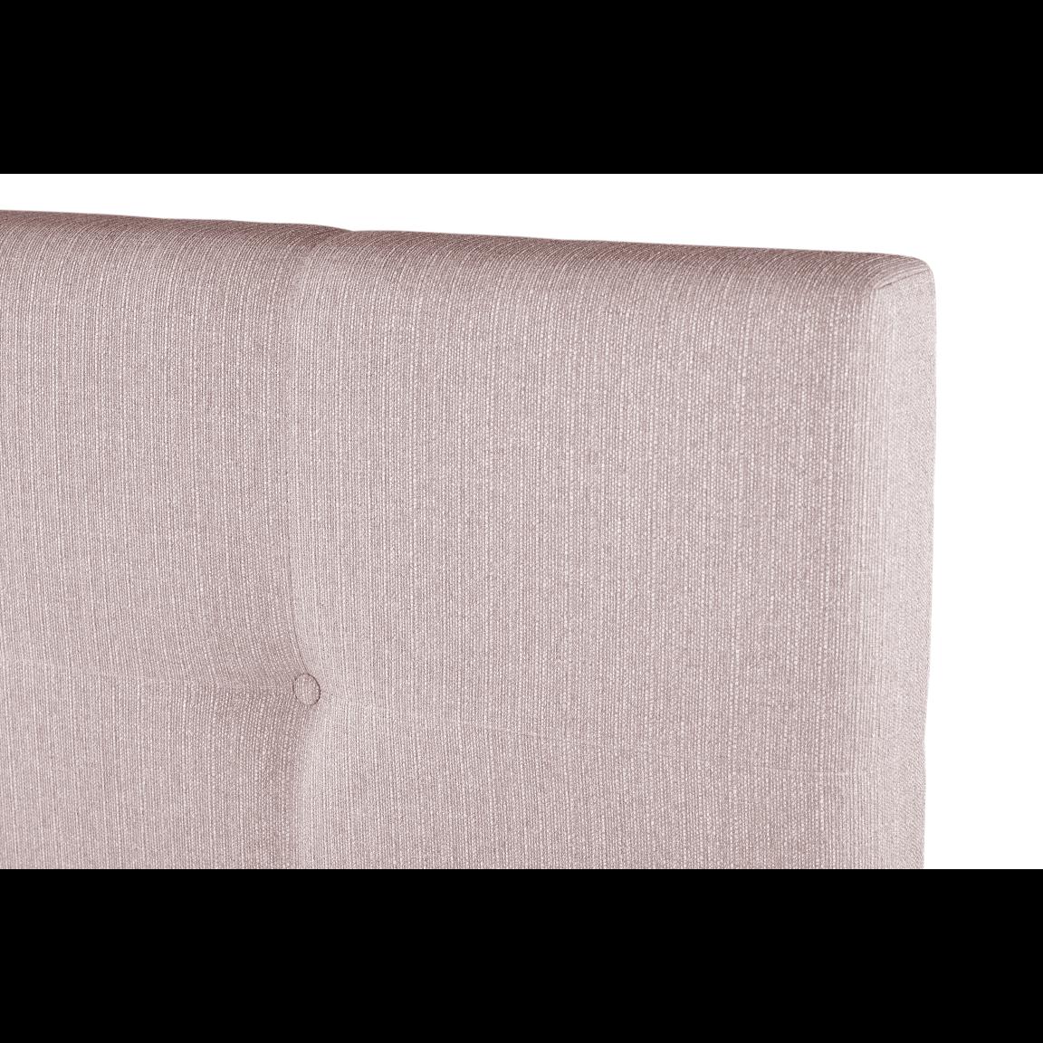 Gepolstertes Bett Cobalt   Rosa-140 x 200 cm