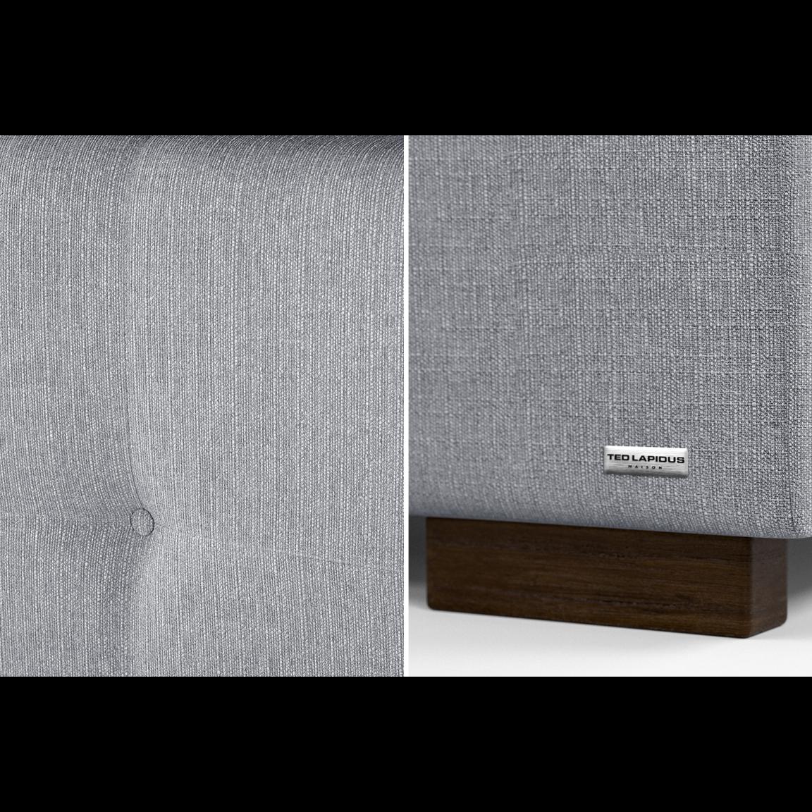 Gepolstertes Bett Cobalt mit Staumöglichkeit | Hellgrau-140 x 200 cm