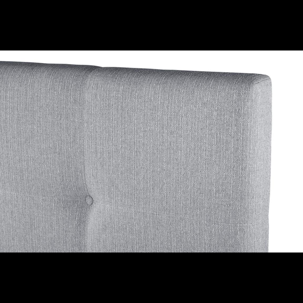 Gepolstertes Bett Cobalt   Hellgrau-140 x 200 cm