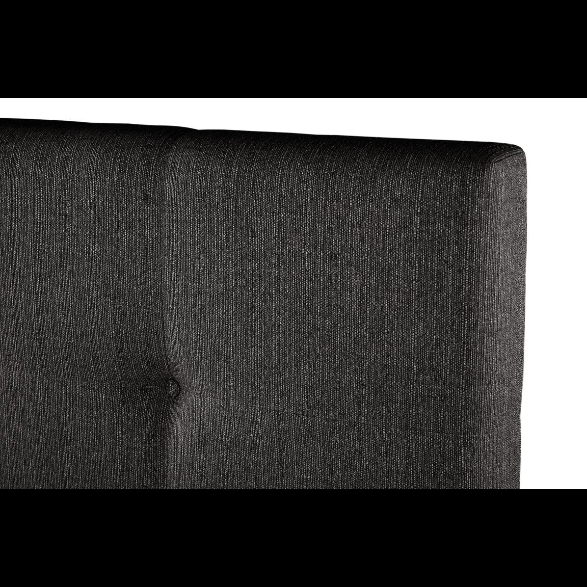 Gepolstertes Bett Cobalt   Dunkelgrau-140 x 200 cm