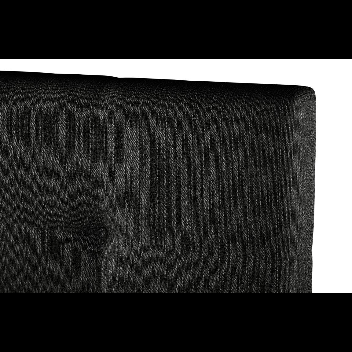 Gepolstertes Bett Cobalt   Schwarz-140 x 200 cm