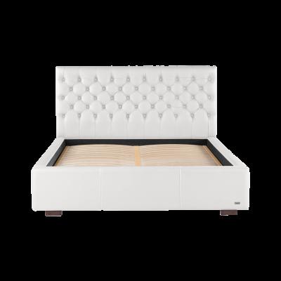 Gepolstertes Bett Amethyste | Weiß