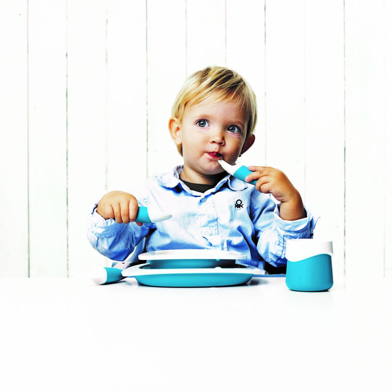 3-teiliges Kinderbesteck   Blau