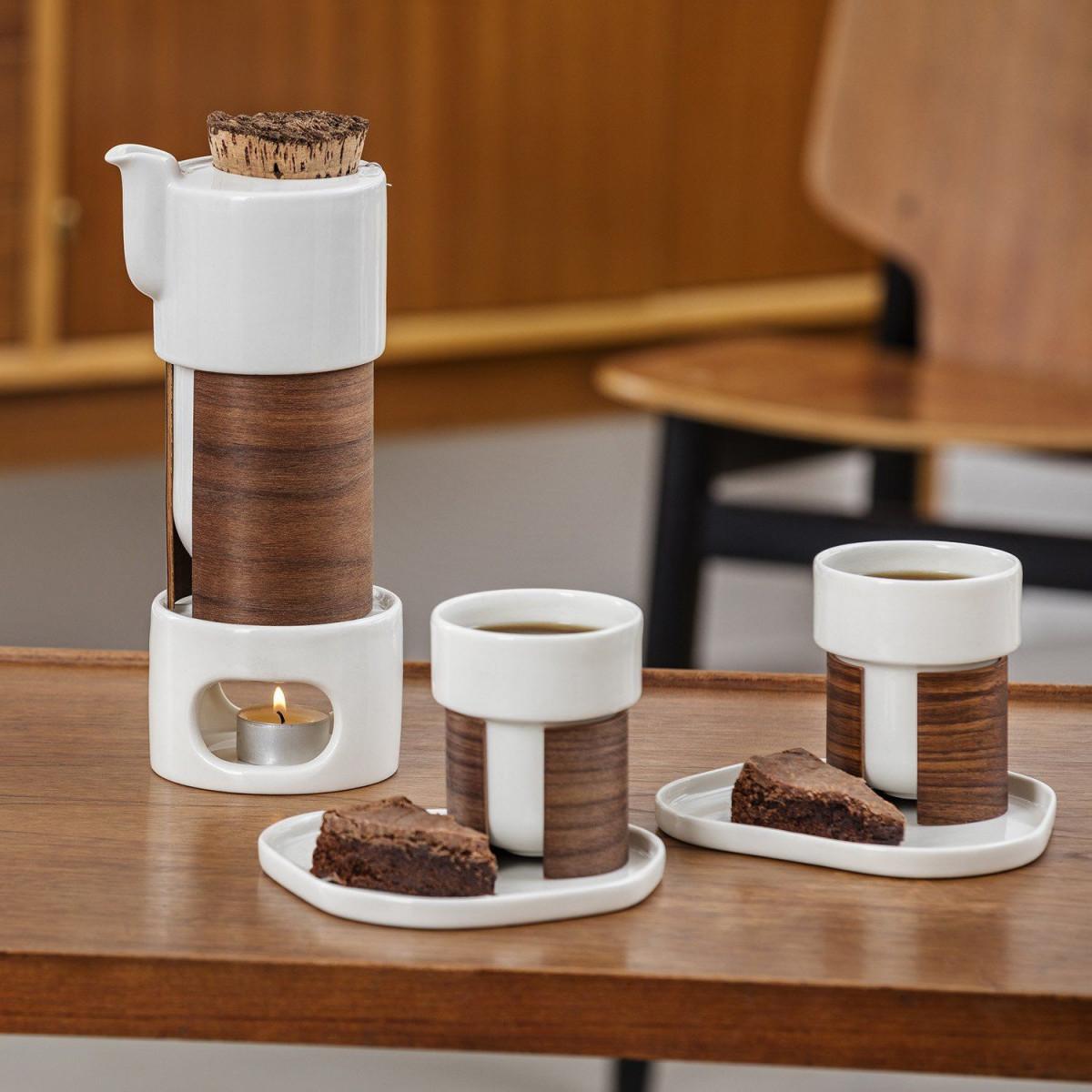 WARM TeaPot/Coffee Pot Cork Small | White/Oak