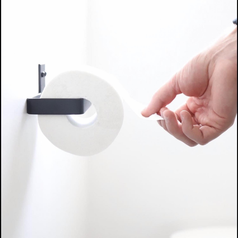 Toilettenpapierhalter | Schwarz