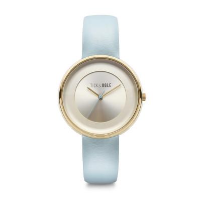 Frauen-Uhr Pastellcreme 36   Blau