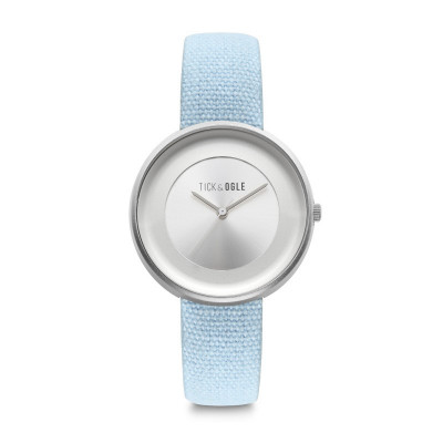Frauen-Uhr Safari Canvass 36   Hellblau