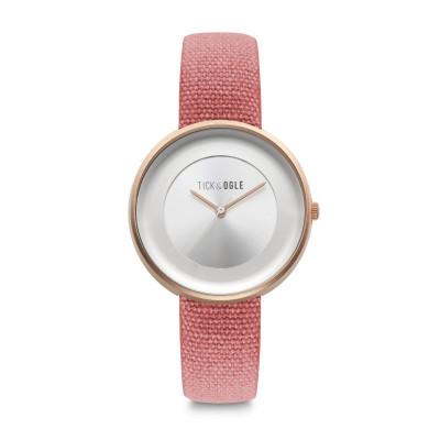 Frauen-Uhr Safari Canvass 36   Rot