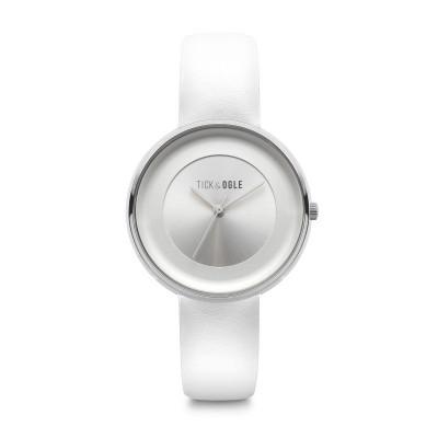 Frauen-Uhr Bloom 36 Leder   Weiß