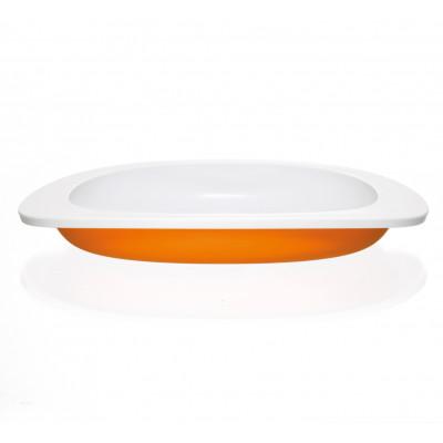 Flacher Teller für Kinder | Orange