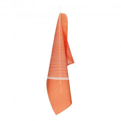 Hangin' around Geschirrtuch | Weiß/Orange