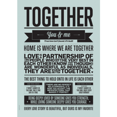 Love Typography Poster | Together