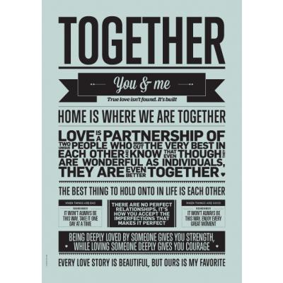 Liebe Typografie Poster | Together
