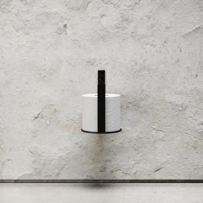 Toilettenpapierhalter Extra | Schwarz