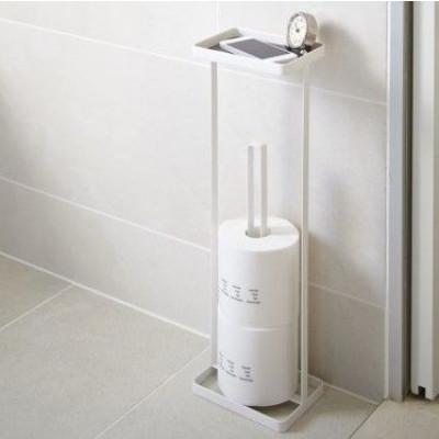 Toilettenpapierhalter Offener Turm | Weiß