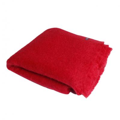 Mohair Blanket   Tomato