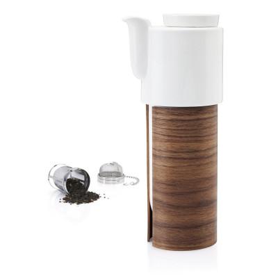 WARM TeaPot/Coffee Pot Large   White/Walnut
