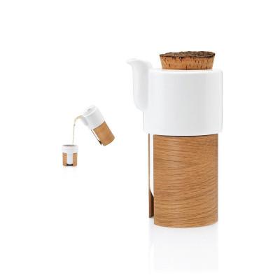 WARM TeaPot/Coffee Pot Cork Small   White/Oak