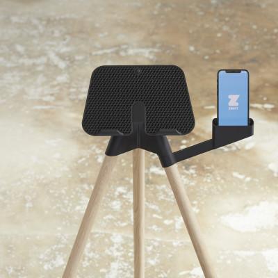 iPad-Ständer mit Smartphone-Halterung   Eiche
