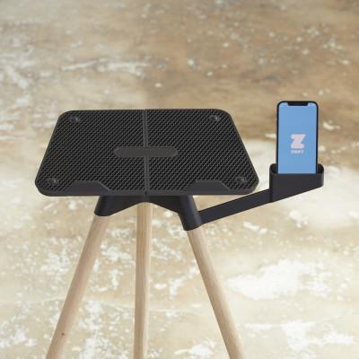 Laptop-Ständer mit Smartphone-Halterung   Eiche