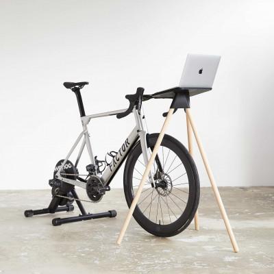 Laptop-Ständer für Indoor-Cycling    Eiche