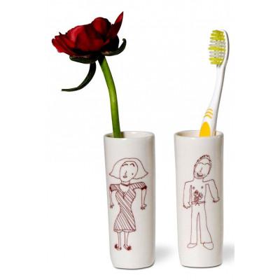 Tootbrush Vases Ulrike Family Mom & Dad