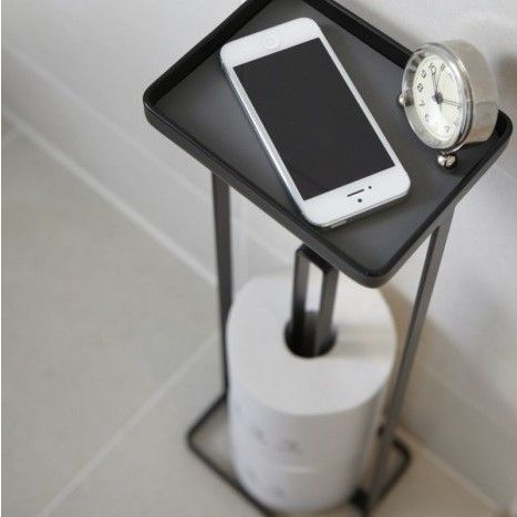 Toilet Paper Holder Open Tower   Black
