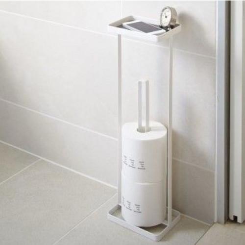 Toilettenpapierhalter Offener Turm   Weiß