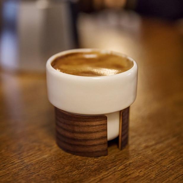 WARM Set of 2 Expresso Cups | White/Oak