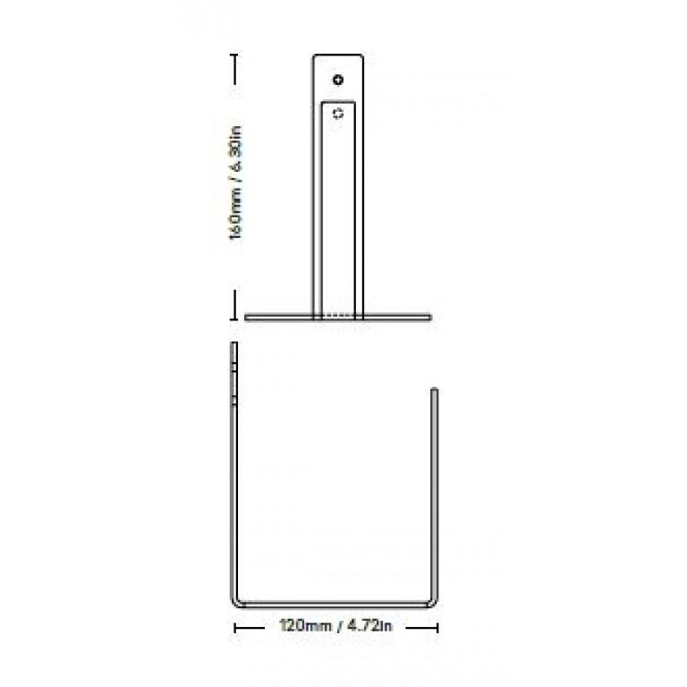 Porte-Rouleau de Toilette Extra   Noir