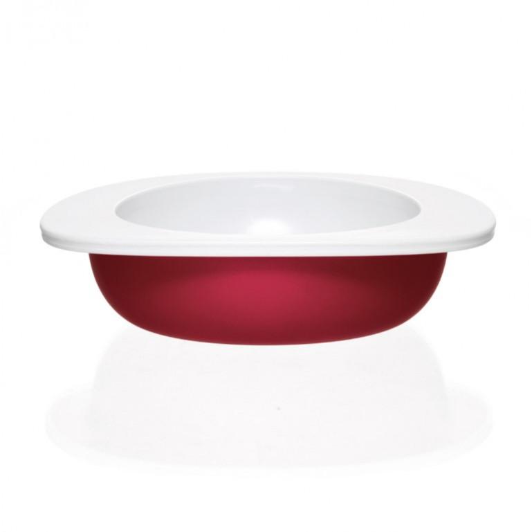 Teller, Schüssel, Tasse und Kinderbesteck | Rot