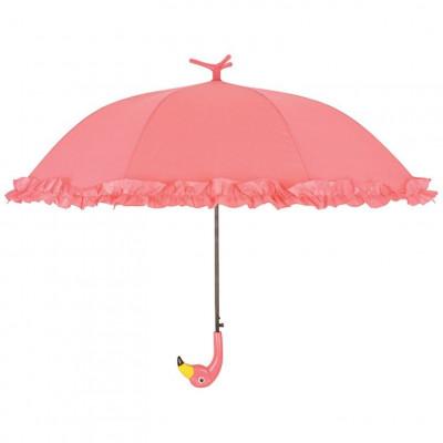 Kinder-Schirm mit Rüschen | Flamingo