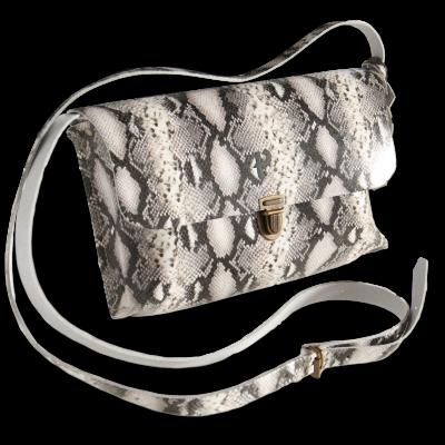 Shoulder Bag Kate Big   Snake Black & White