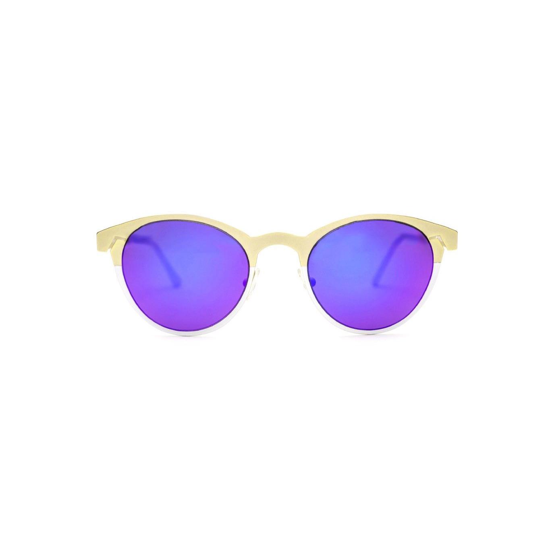 Women's Sunglasses Twiggy Round | Gold / White