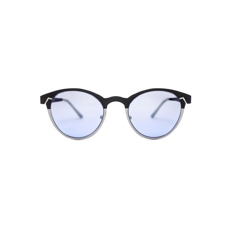 Women's Sunglasses Twiggy Round | Black / Silver
