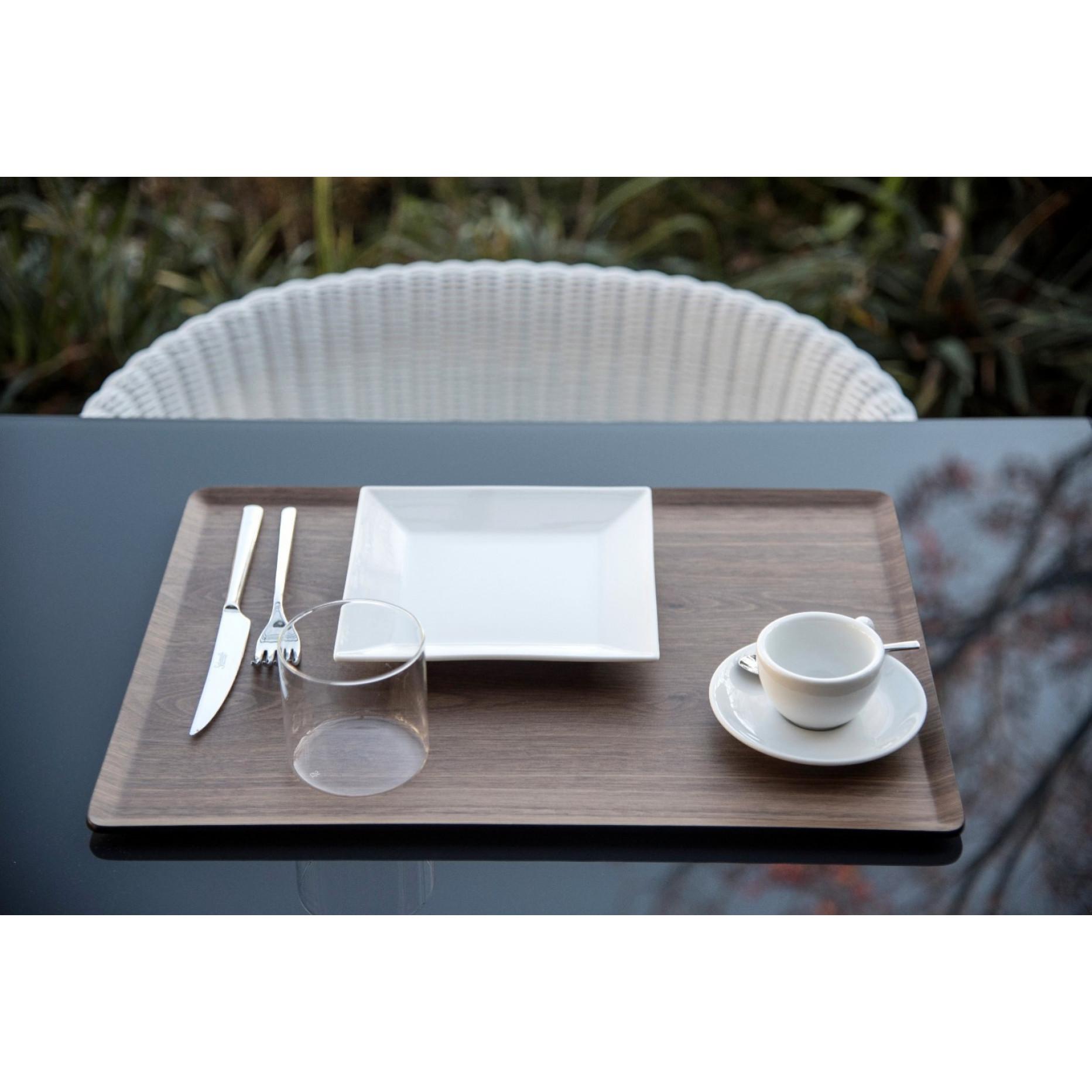 Serviertablett Pasto | Dunkles Holz