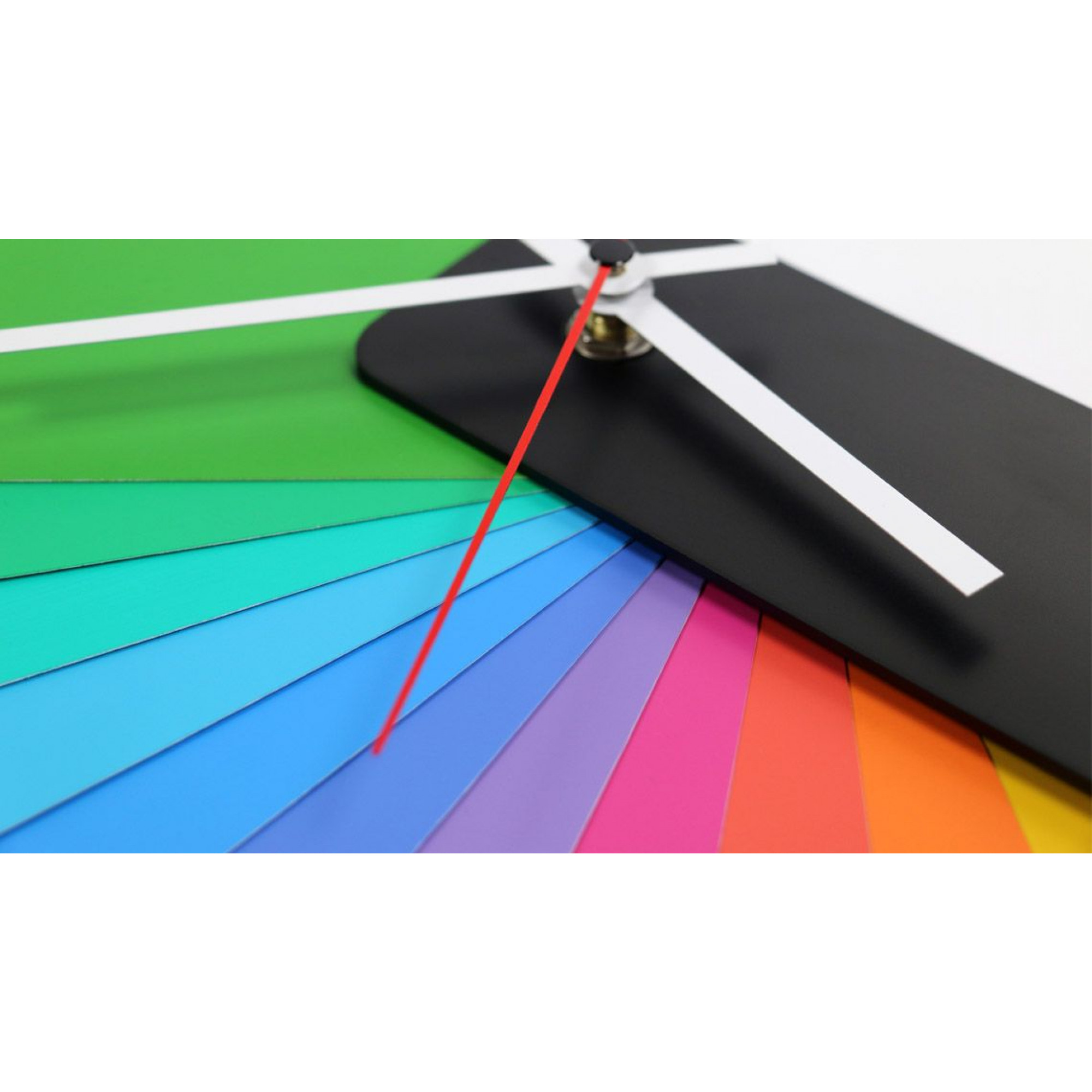 Desk/Wall Foldable Analog Clock Transformer | Black & Multicolor